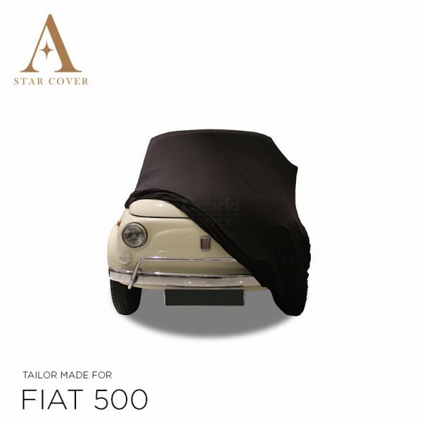Fiat 500 Autoabdeckung - Maßgeschneidert - Schwarz