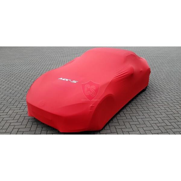 Mazda MX-5 NC Indoor Autoabdeckung mit Emblem - Maßgeschneidert - Rot