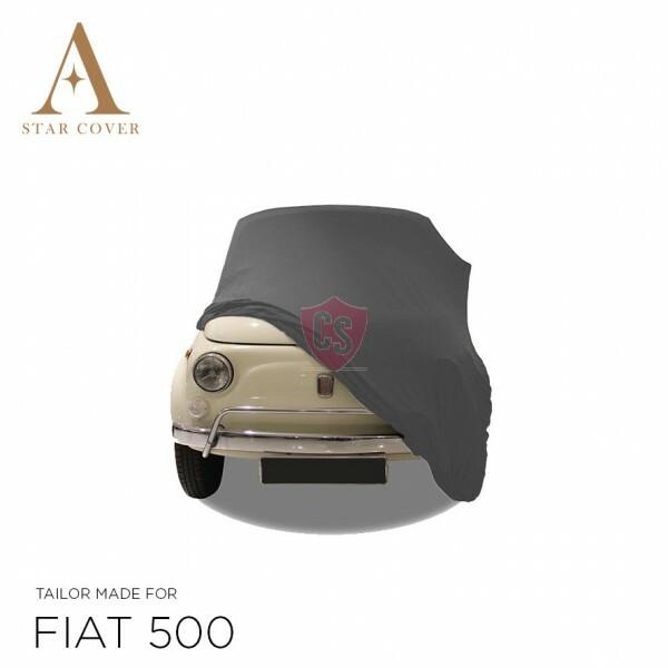 Fiat 500 Autoabdeckung - Maßgeschneidert - Silbergrau