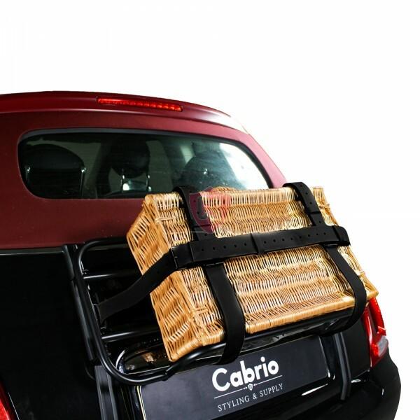 gep ckriemen aus hochwertigem leder in schwarz cabrio supply. Black Bedroom Furniture Sets. Home Design Ideas