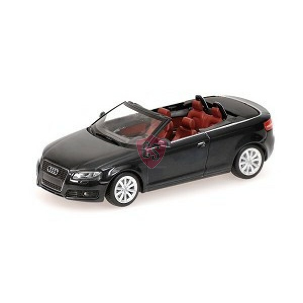audi a3 cabriolet grau metallic 1 43 minichamps cabrio. Black Bedroom Furniture Sets. Home Design Ideas