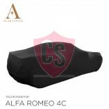 Alfa Romeo 4C Spider Indoor Autoabdeckung - Maßgeschneidert - Schwarz
