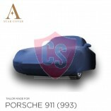 Porsche 911 993 1993-1998  Autoabdeckung - Maßgeschneidert - Blau - Spiegeltaschen