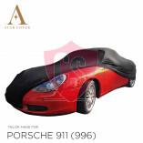 Porsche 911 996 Cabrio ohne Aerokit Indoor Autoabdeckung - Schwarz