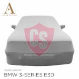 BMW 3'er Cabrio E30 Indoor Autoabdeckung - Spiegeltaschen - Silber