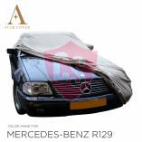 Mercedes-Benz R129 SL Wasserdichte Vollgarage - Star Cover - Militär Khaki - Spiegeltaschen