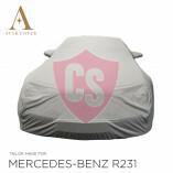 Mercedes-Benz R230 SL Wasserdichte Vollgarage - Star Cover - Militär Khaki - Spiegeltaschen