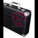 Aluminium Gepäckträger Koffer Toskana in schwarz matt