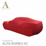 Alfa Romeo 4C Spider Indoor Autoabdeckung - Maßgeschneidert - Rot