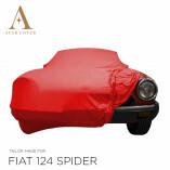 Fiat 124 Spider 1966-1985 Autoabdeckung - Maßgeschneidert - Rot