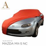 Mazda MX-5 NC Indoor Autoabdeckung - Maßgeschneidert - Rot
