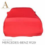 Mercedes-Benz R129 SL Indoor Autoabdeckung - Maßgeschneidert - Rot