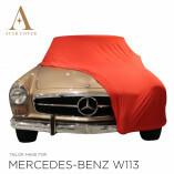 Mercedes-Benz W113 Pagode Indoor Autoabdeckung - Maßgeschneidert - Rot