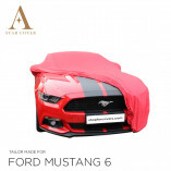 Ford Mustang 6 2014-2019 Autoabdeckung Rot