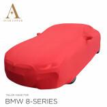 BMW 8 Reihe Cabrio G14 - Autoabdeckung - Spiegeltaschen - Rot