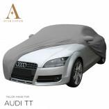 Audi TT 8J Roadster Indoor Autoabdeckung - Spiegeltaschen - Silber