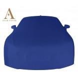 Ferrari Testarossa Autoabdeckung Blau mit Spiegeltaschen
