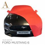 Ford Mustang 6 Cabrio - Autoabdeckung - Spiegeltaschen - Rot