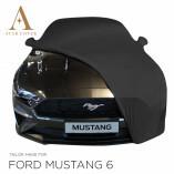 Ford Mustang 6 Cabrio Autoabdeckung - Spiegeltaschen - Schwarz
