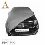 Fiat 500 500C Autoabdeckung - Maßgeschneidert - Silbergrau