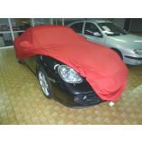 Porsche Boxster 718 Autoabdeckung - Maßgeschneidert - Spiegeltaschen - Satin Rot