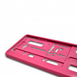 Kennzeichenhalter in Pink (1 Stück)