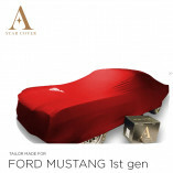 Ford Mustang I 1964-1967 Indoor Autoabdeckung Rot mit Emblem