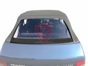 Peugeot 205 Cabrio PVC Heckscheibe in PVC Ausführung