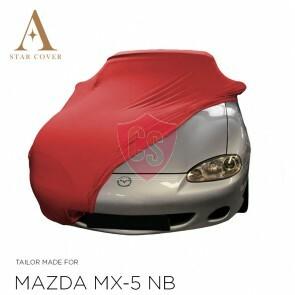 Mazda MX-5 NB Indoor Autoabdeckung - Maßgeschneidert - Rot