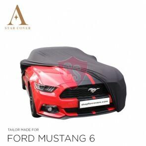Ford Mustang 6 2014-2019 Autoabdeckung Schwarz