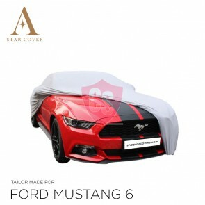Ford Mustang 6 2014-2019 Autoabdeckung Silber