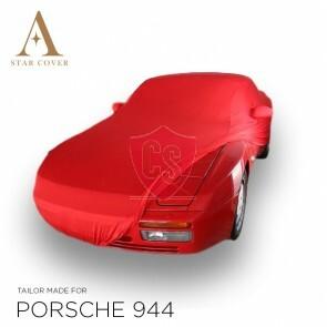 Porsche 944 & 968 Autoabdeckung - Maßgeschneidert - Spiegeltaschen -Rot