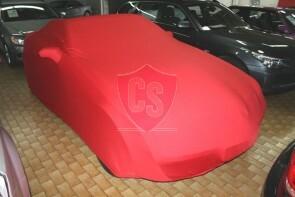 Mercedes-Benz SLK R171 Autoabdeckung - Maßgeschneidert - Spiegeltaschen -Rot