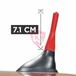 Rotes Kurzstab Antenne The Stubby Fiat 500