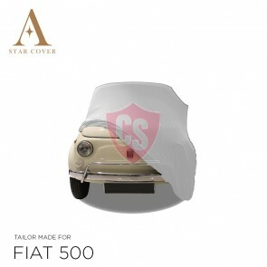 Fiat 500 Autoabdeckung - Maßgeschneidert - Weiß