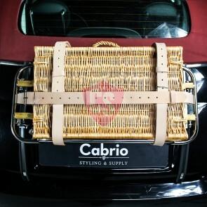 Gepäckriemen aus hochwertigem Leder in Beige