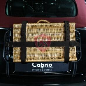Gepäckriemen aus hochwertigem Leder in Schwarz