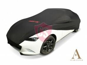 Mazda MX-5 ND & RF Autoabdeckung mit Emblem - Maßgeschneidert - Schwarz