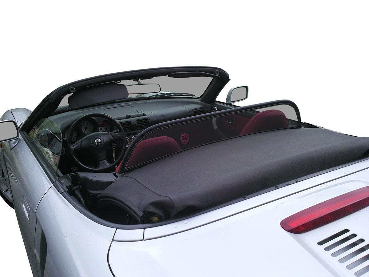 Schwarz 2000-2005 Toyota MR2 Windschott f/ür Roadsterb/ügel