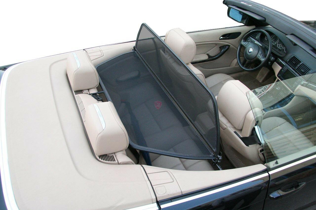 bmw 3 reihe e46 windschott schwarz 1999 2006 cabrio supply. Black Bedroom Furniture Sets. Home Design Ideas