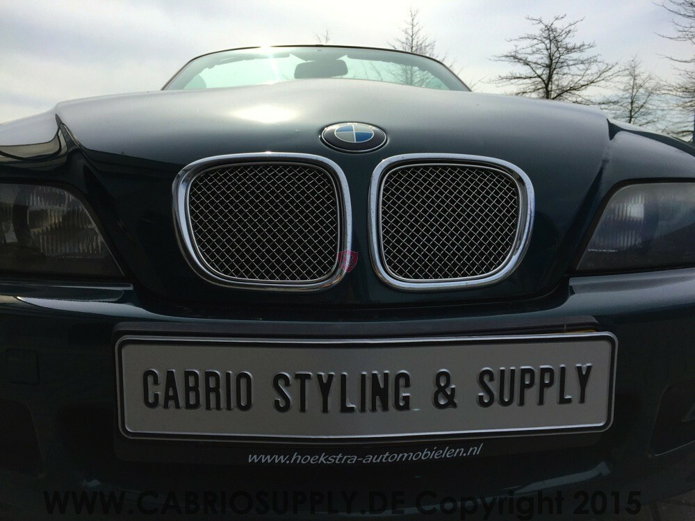 bmw z3 roadster edelstahl k hlergrill 2 teilig cabrio. Black Bedroom Furniture Sets. Home Design Ideas