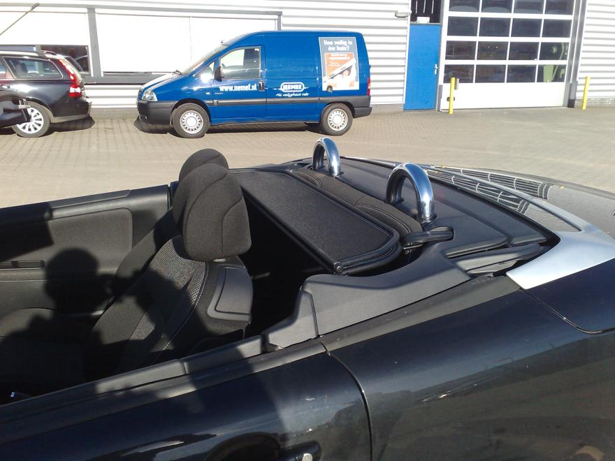 peugeot 207 cc windschott in beige leder 2007 2016 cabrio 207cc windschutz ebay. Black Bedroom Furniture Sets. Home Design Ideas